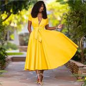 Sumptuous yellow outfits for single ladies who want to slay