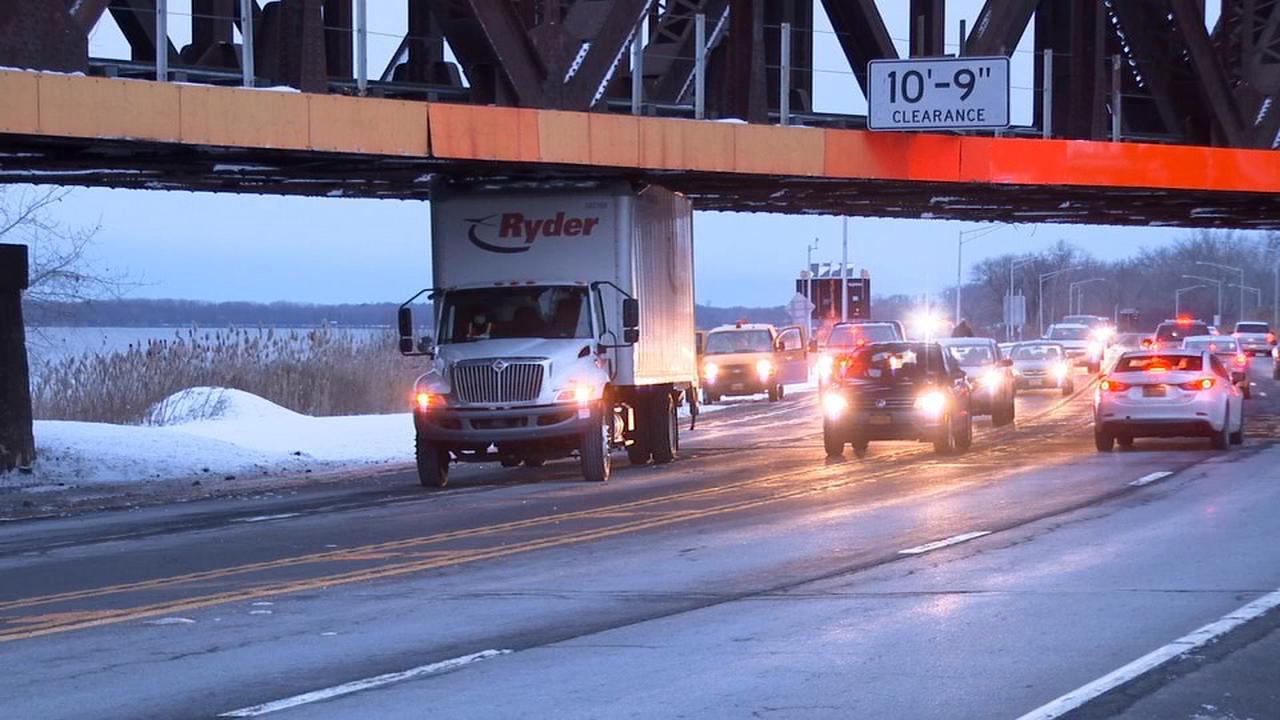 Truck hits Onondaga Lake Parkway bridge Wednesday morning