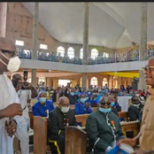 Read What Obaseki And Oshiomole Said About Each other After They Met At A Church Service In Edo