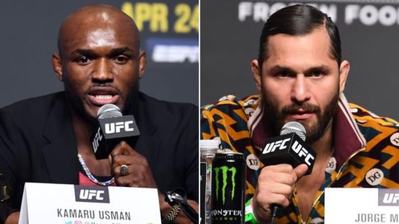 UFC 261: Kamaru Usman and Jorge Masvidal trade barbs ahead of welterweight title rematch