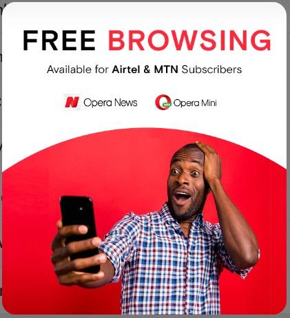 MTN Opera mini and news data