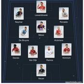 Lewandowski, Messi And Ronaldo Voted In UEFA's Team Of The Year