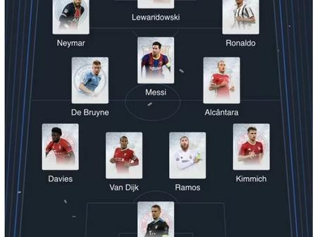 Lewandowski, Messi And Ronaldo Voted In UEFA's Team Of The Year