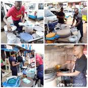 See The Young Igbo Men Who Are Among The Best Food Vendors In Awka [PHOTOS]