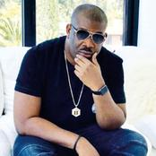 Don Jazzy replies a fan that said he wants to draw a tattoo of him on his forehead