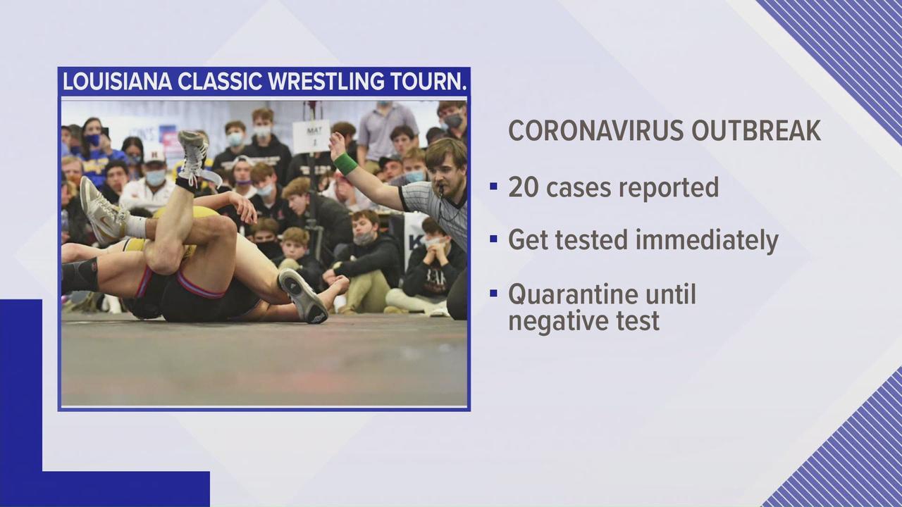 Louisiana wrestling tournament linked to covid outbreak