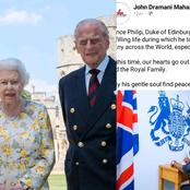 Sad: Mahama Breaks Silence On The Death Of Queen Elizabeth's Husband