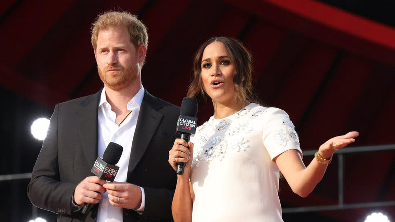 Meghan Markle and Prince Harry appear at Global Citizen Live concert in New York