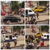 Moment A Lady Thrown Out Of A Black SUV Car Runs Mad In Anambra State (Video)