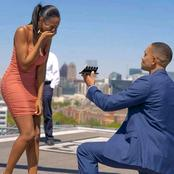 After He Proposed To His Wife, See The Beautiful Thing That Was Noticed In The Picture