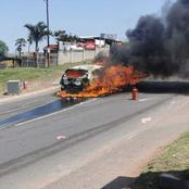 A New BMW Purchased As Birthday Gift Caught Fire While Driven In KZN.