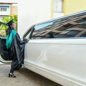 Akothee treats her daughter to a limousine drive after graduation