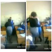 Mzansi Reacts On A Video That Has Gone Viral On Social Media Of A Student And A Teacher Fighting In