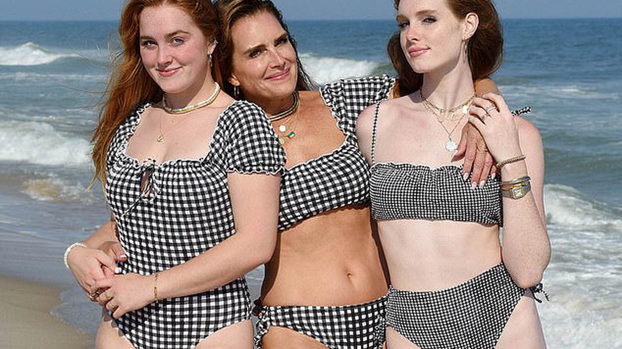 Swimsuit selling power! Brooke Shields, 56, helps to boost American Eagle shares by SIX PER CENT after posting a viral Instagram photo of herself and her daughters posing in the brand's swimwear designs