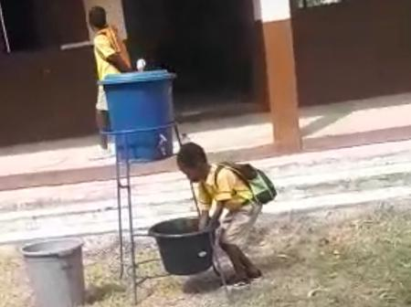 See what a child was caught on camera doing