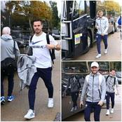 Pictures: See Pictures Of Chelsea Players As They Travel To Face Manchester United At Old Trafford.