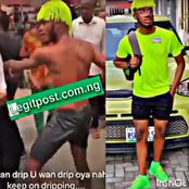"""""""Oboy, I No Fit Kill My Mama""""- Suspected Yahoo Boy Says After Removing His Clothes on The Street"""
