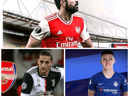 Transfer News: 3 Done Deals, Costa & Rabiot To Arsenal, Rice To Chelsea, Sarr To Man Utd & More News