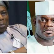 See What Obasanjo Just Told Yahaya Bello In A Close-Door Meeting Over Insecurity