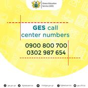 Ghana Education Service: Call Center Numbers For SHS Placement Challenges