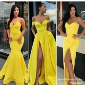 Nice Yellow Designs For Ladies Who Want To Look Beautiful
