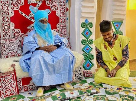Hausa Singer, Naziru Sarkinwaka Shares new photo with Emir of Zazzau