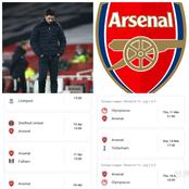Arsenal's Next Four Games That Shows Mikel Arteta Can Suffer Consecutive Defeates