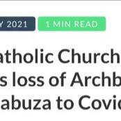 South Africa's Archbishop succumbs to the Covid-19