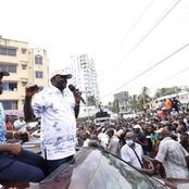 Asanteni! Raila Celebrates After Residents Of Kongowea, Todor And Changamwe Listening To Him