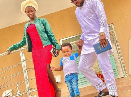 Kola Ajeyemi And His Cute Children Look Stunning In New Photo As They Celebrate Easter