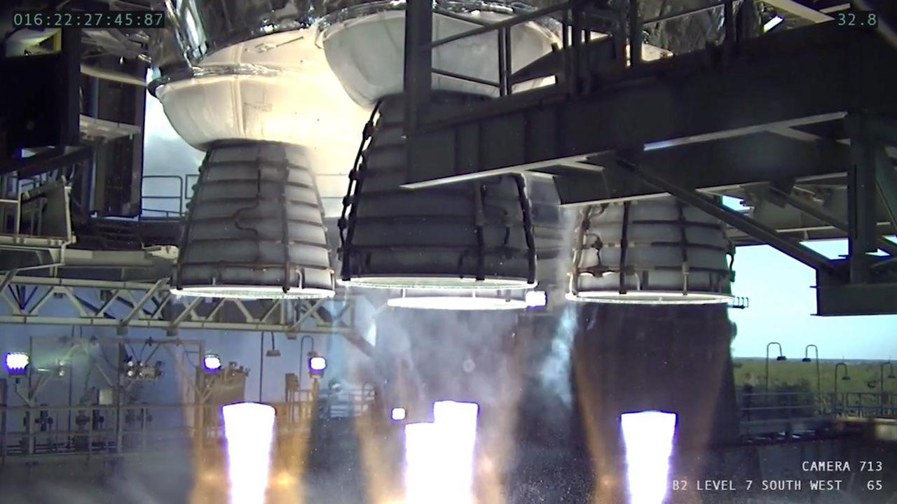 NASA studying cause of early end to NASA moon rocket test-firing