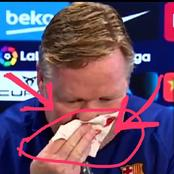 See What Happened To Barcelona Coach Ronald Koeman In A Press Conference That Got People Talking