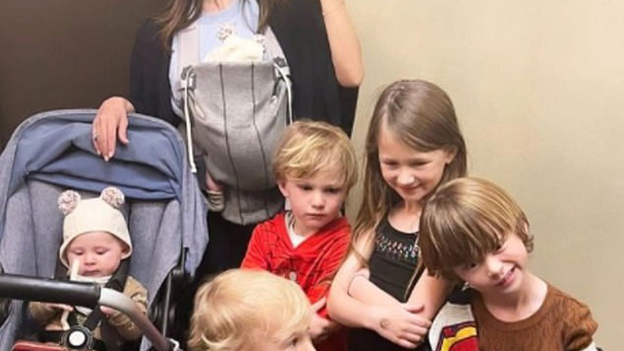 Hilaria Baldwin shares mirror snap with her ever-expanding brood of six children: 'My squad'