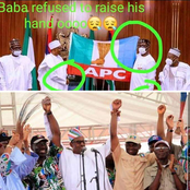 'Baba refused to raise his hand', Nigerians reacts as Buhari Endorse Obaseki
