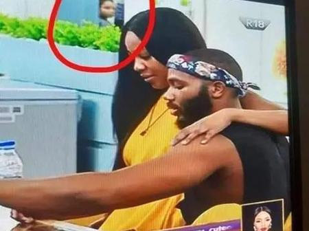 BBN: (Photos) Nengi Caught On Camera Peeping At the Lovebirds, Erica And Kiddwaya From the Door