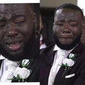 Check Out The Moving Moments Some Men Cried On Their Wedding Day