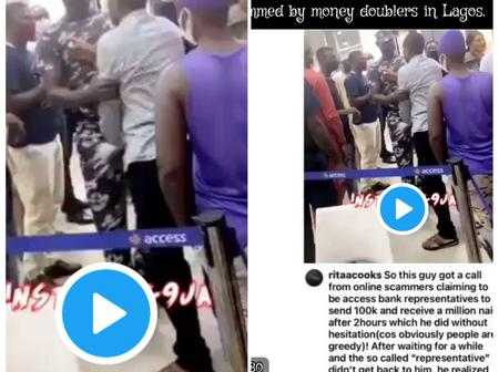 A Young man was scammed of 100k by an Internet Fraudster. (Watch video)