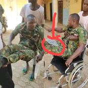 I Swear To God, Nigerian Army Has Abandoned Me. I Can't Urinate unless Through Pipe, Soldier Cries