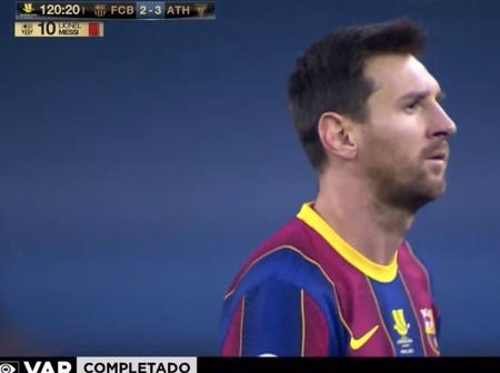 Leo Messi saw Red, as Barcelona lose the Spanish Super Cup final to Athletic Bilbao in Seville