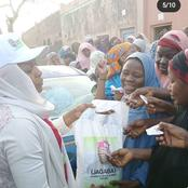 Check Out What Mansura Collects From Needy Before Giving Them Tinubu Donated Rice