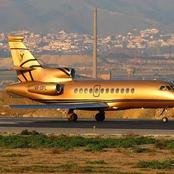 Meet Man Who Owns The Only Golden Plane In The World And 7000 Cars (Photos)