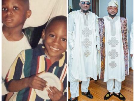 Davido and his Cousin, Tunji are intimate childhood friends, See their Throwback and Recent Photos.