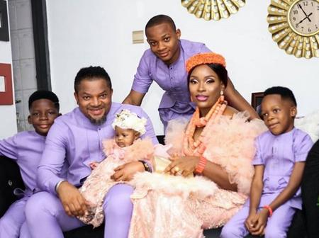 Beautiful Pictures Of Walter Anga's Wife And Kids