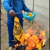See pictures of furious Chiefs fan burning his merchandise