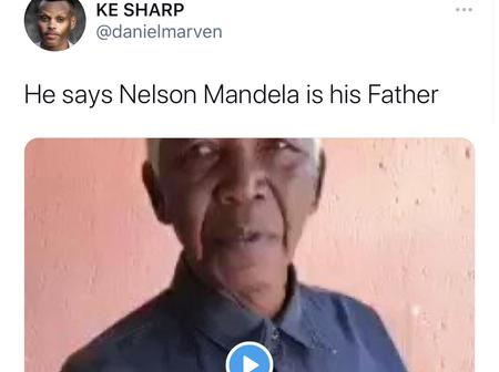 Old Man Who Resembles Nelson Mandela Claims That Nelson Mandela Is His Father