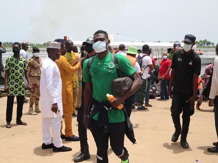 PHOTOS: Super Eagles arrive safely for crunch clash against Benin Republic
