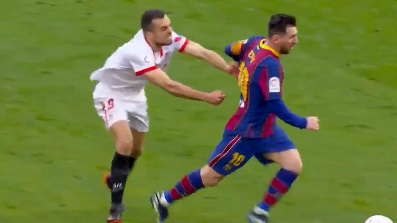 He wanted to catch Messi at speed, he made a fool of himself and went viral: the memes on the networks