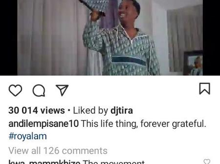 Andile Mpisane made a new song which is a hit on Instagram