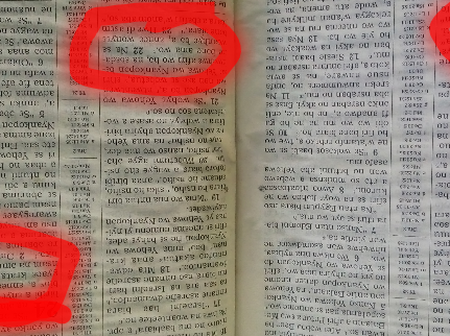 Have A Look At What Was Found In The Bible That Is Causing Confusion Online.