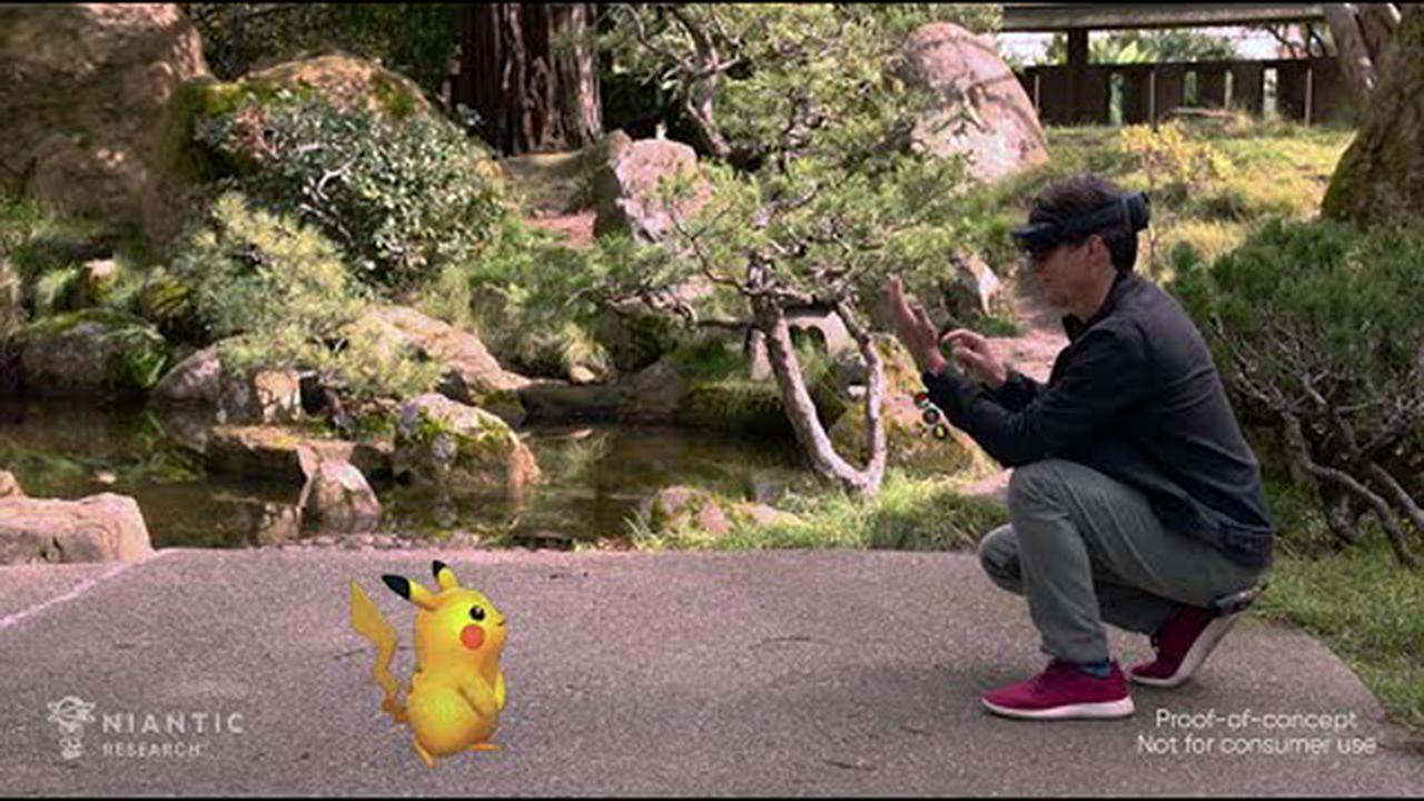Microsoft and Niantic demo a HoloLens version of Pokémon Go